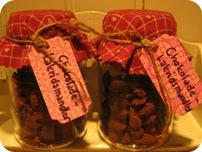 Chokolade-lakrids-mandler DIY