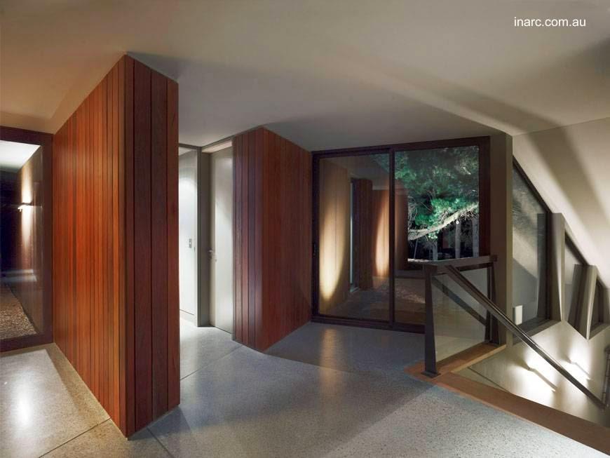 Casa contemporánea en Australia vista de un sector interior