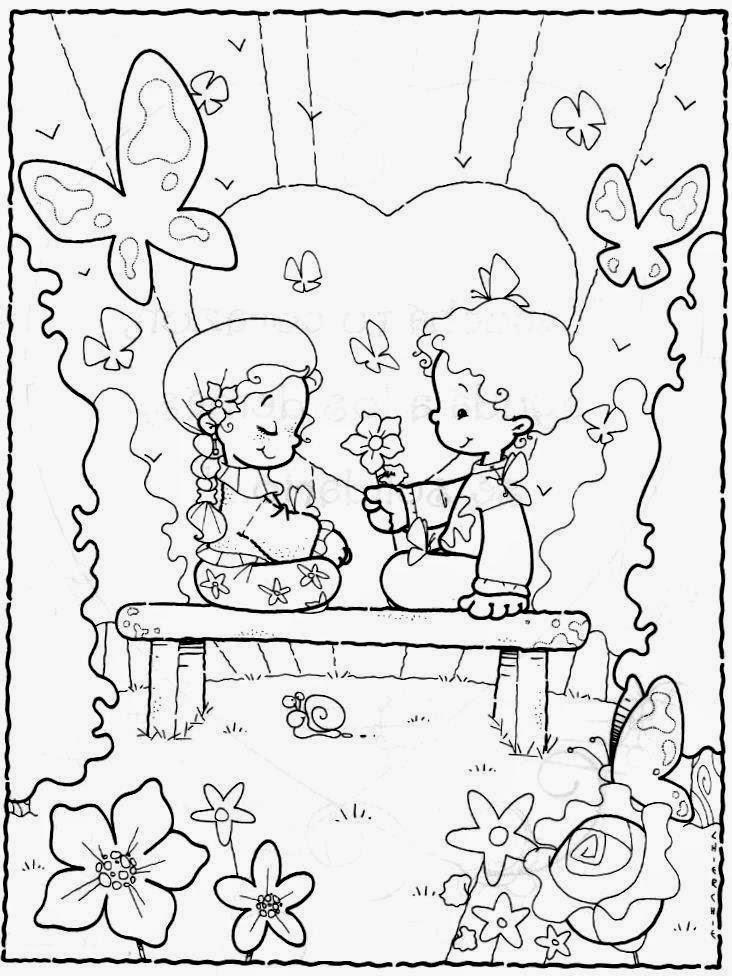 Desenhos para colorir dia dos namorados