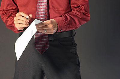 man holding checklist