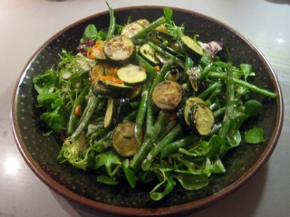 hugh's tahini-dressed courgette and green bean salad