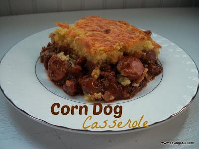 Corn Dog Casserole - Saving 4 Six