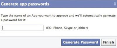 facebook app password
