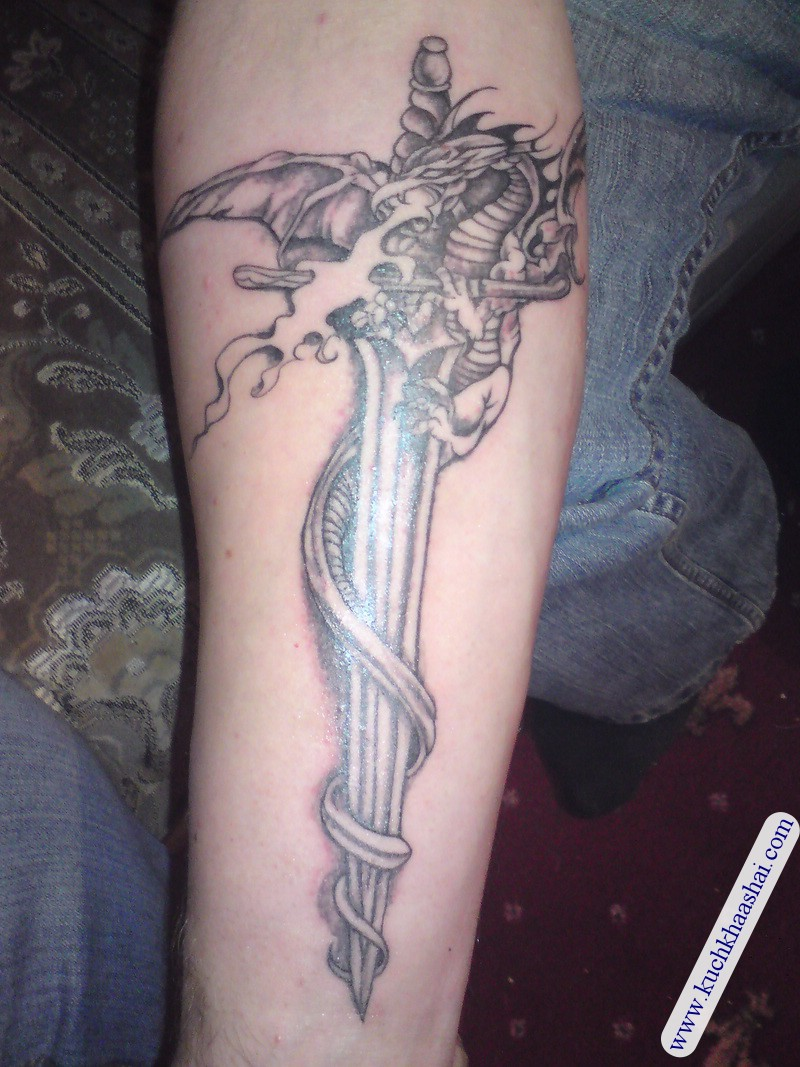 Dragon Sword Tattoo Designs
