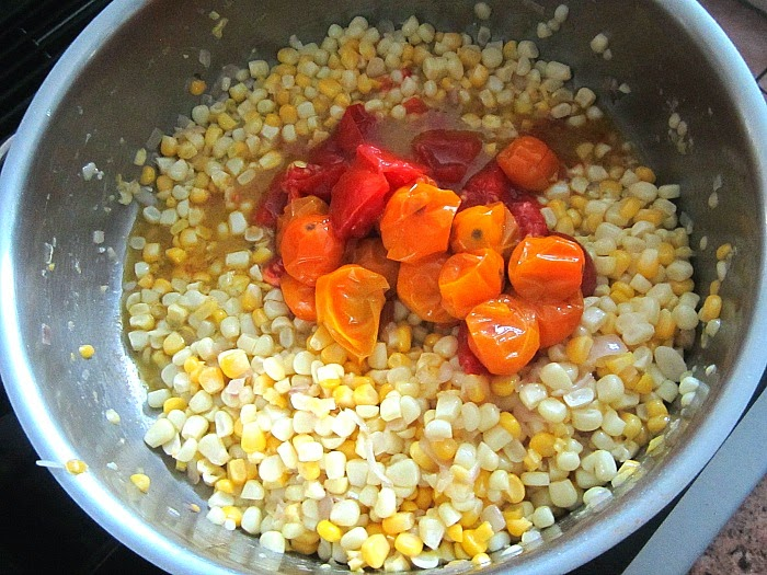 Stacey Snacks: Farrotto w/ Summer Corn & Roasted Cherry Tomatoes