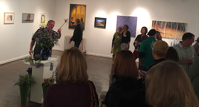 """Chaos in Purple/Blue"" by Norman Soong interpreted live by Patrick Kelly of Stein Your Florist Co."