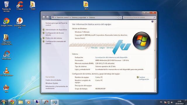 Windows 7 SP1 Español Noviembre 2014