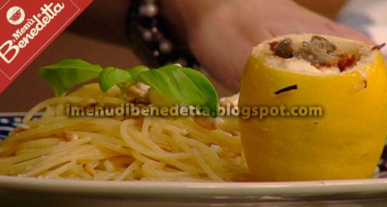 Spaghetti Limone e Feta con Limoni Farciti di Benedetta Parodi