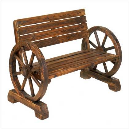 Home Decorating Accessories Wagon Wheel Bench Garden