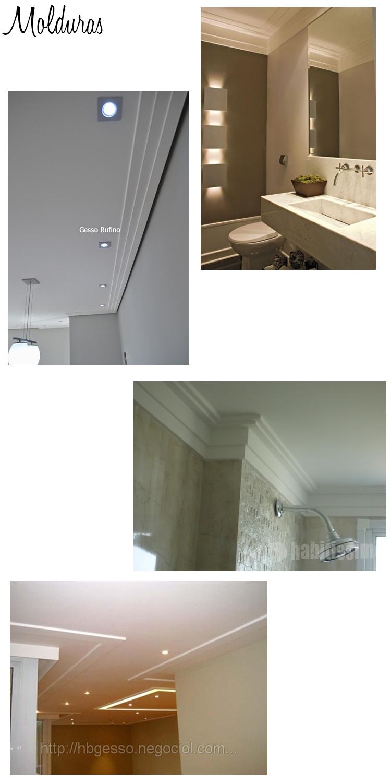 Rebaixo de teto tipos de sancas e molduras topa decorar - Tipos de molduras ...