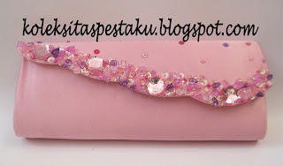 Tas Pesta Dompet Clutch Bag Mewah Elegant Warna Pink Ayu Unik
