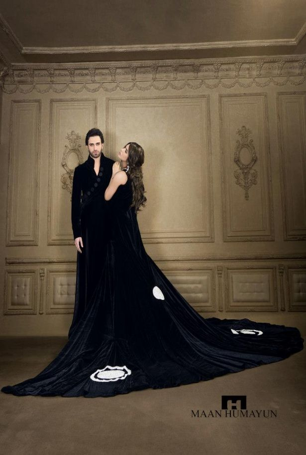 mh latest semi formal dresses for ladies gents t - MH New Semi Formal Wear Dresses Collection 2013 for Men and Women