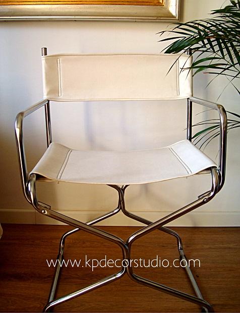 Comprar silla años 70 estilo retro modelo de director. Sillas vintage para decoradores en valencia y madrid
