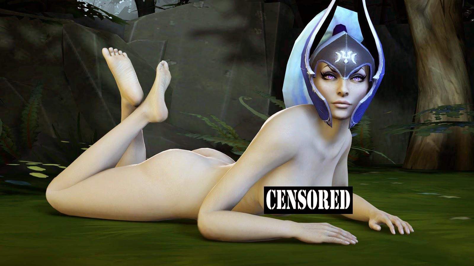 Dota 2 topless cartoon girlfriends