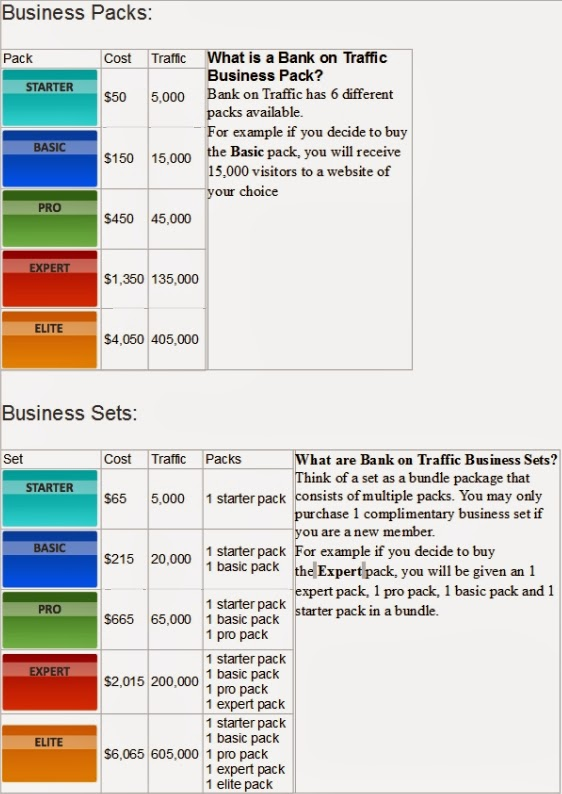bank on traffic - packs e sets