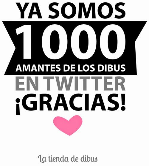 Ya somos 1.000 seguidores en Twitter! La tienda de dibus
