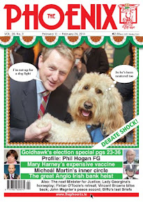 Enda Kenny and Clive make the cover of The Phoenix, February 2011