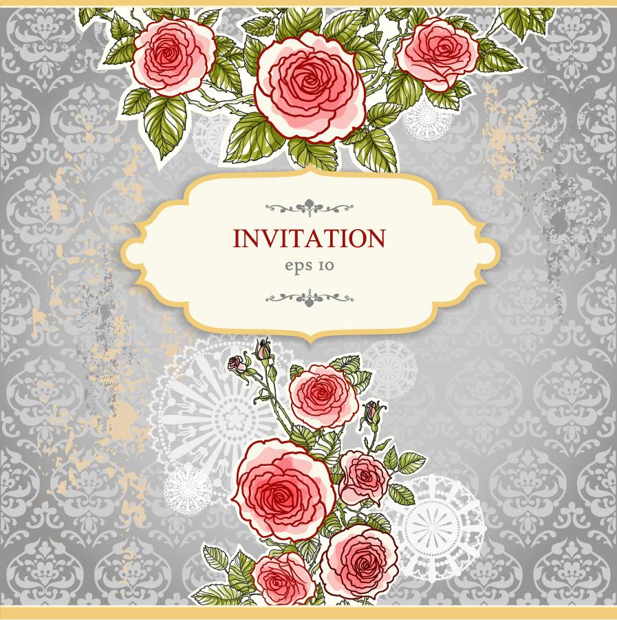 シームレスな背景に手書きの花ビラ exquisite handpainted floral background イラスト素材