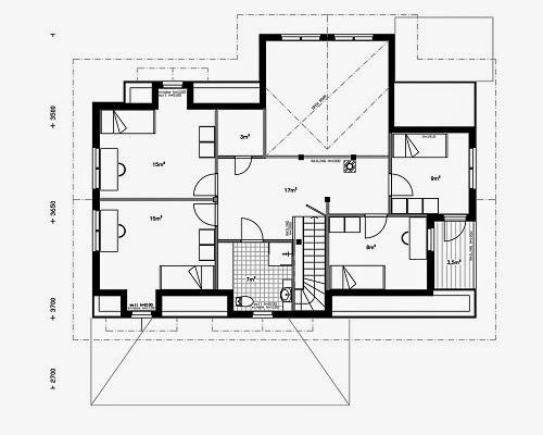 Planos de casas gratis planos chalets de 143 m2 - Plano de chalet ...