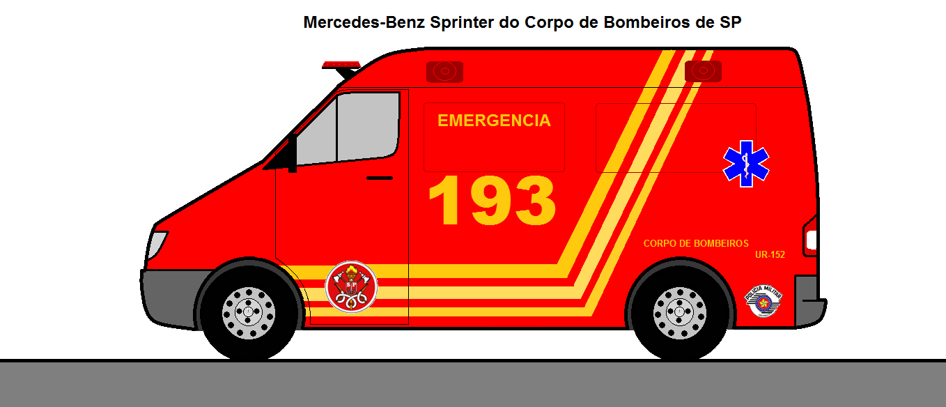 Sprinter Do Corpo De Bombeiros De Sp Dcp Design