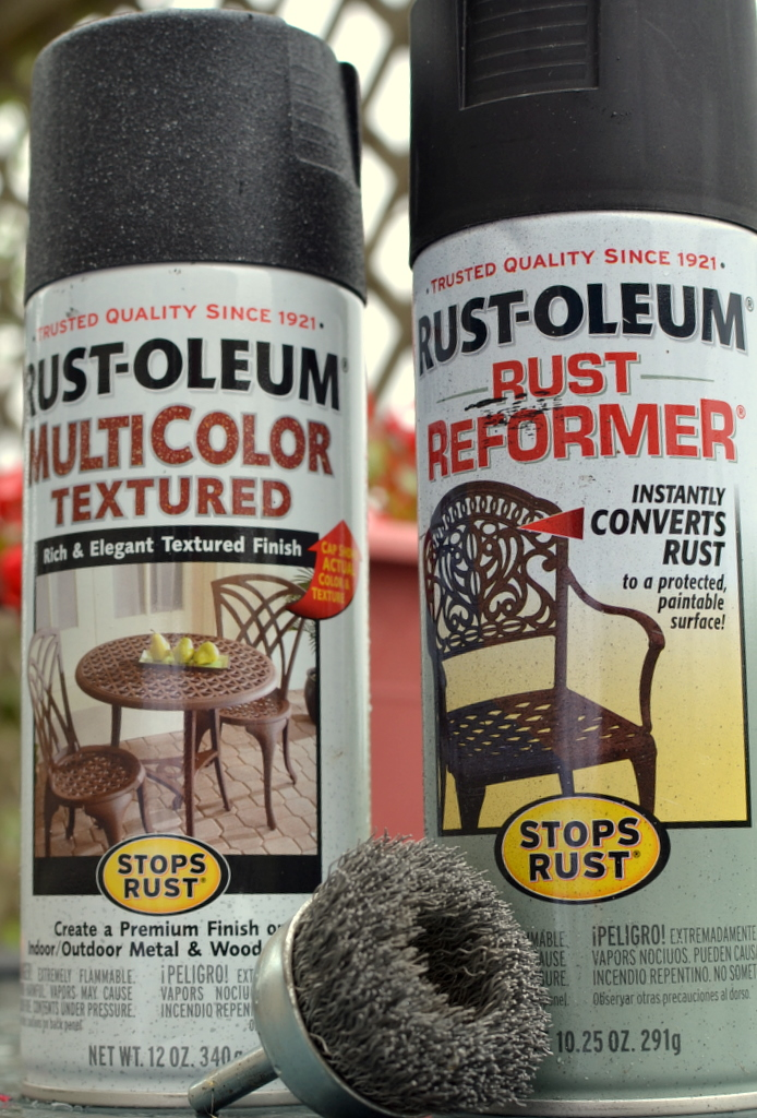 Spraypainted Patio Furniture Redo