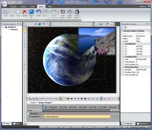 تحميل محرر الفيديو VSDC Free Video Editor 1.2 .4 مجانا