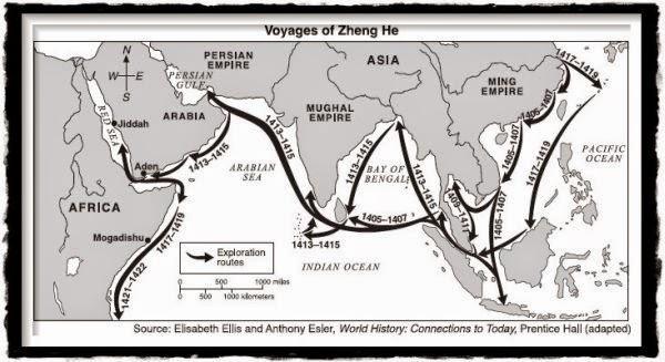 Rute Pelayaran Laksaman Cheng Ho (Zheng He)
