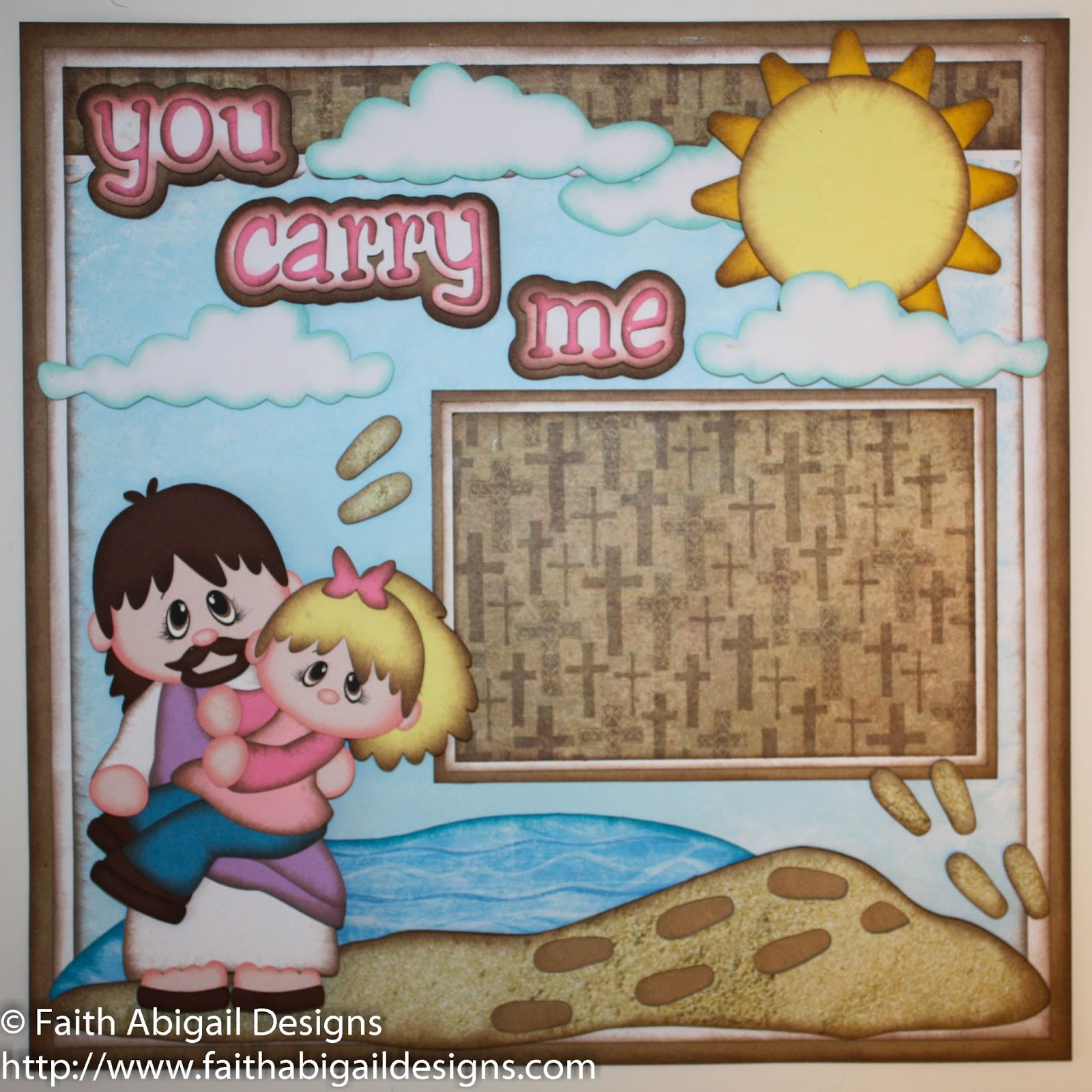 Scrapbook ideas and designs - You Carry Me 12 X12 Single Scrapbook Layout