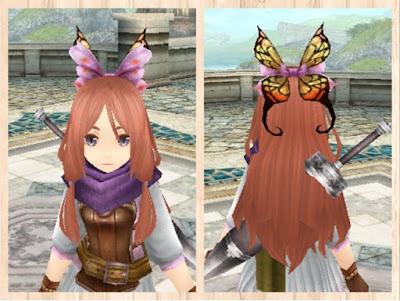 蝶の髪飾り