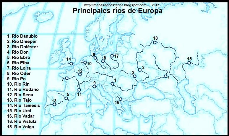 Rios Mapa De Europa
