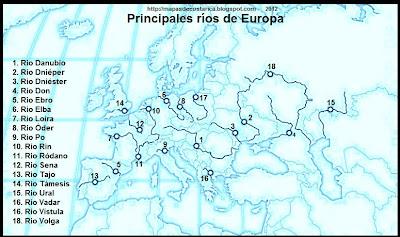 Nombre de los Principales Rios de Europa