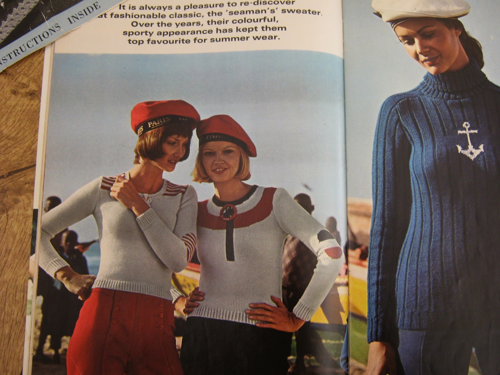 Vintage Knitting Patterns Nautical Jumpers