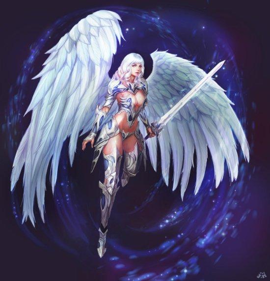 jung hun ju kveldulv ilustração fantasia guerreiras mulheres lindas