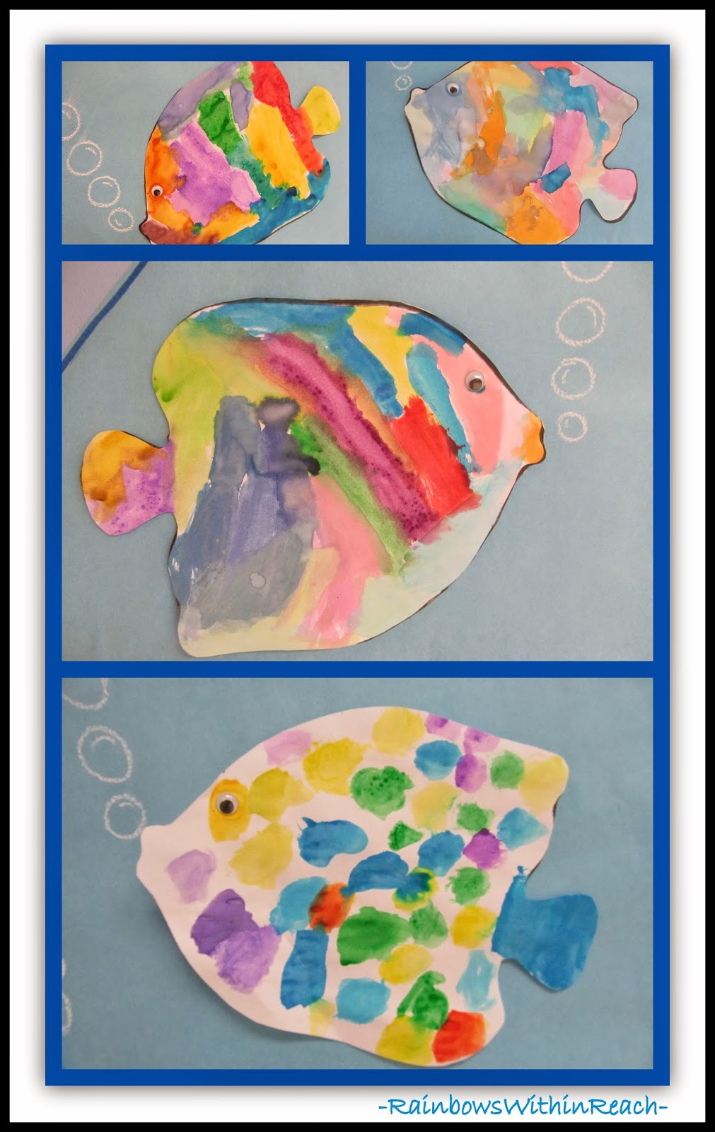 Ocean Fish Painting {Ocean RoundUP of Inspiration at RainbowsWithinReach}