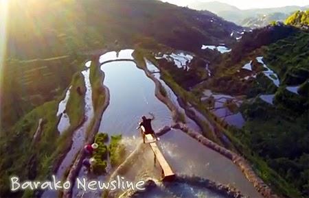 wakeskating stunt at Banaue Rice Terraces