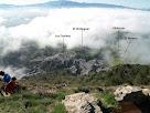 Les Cendres en primer terme i el Montseny al fons