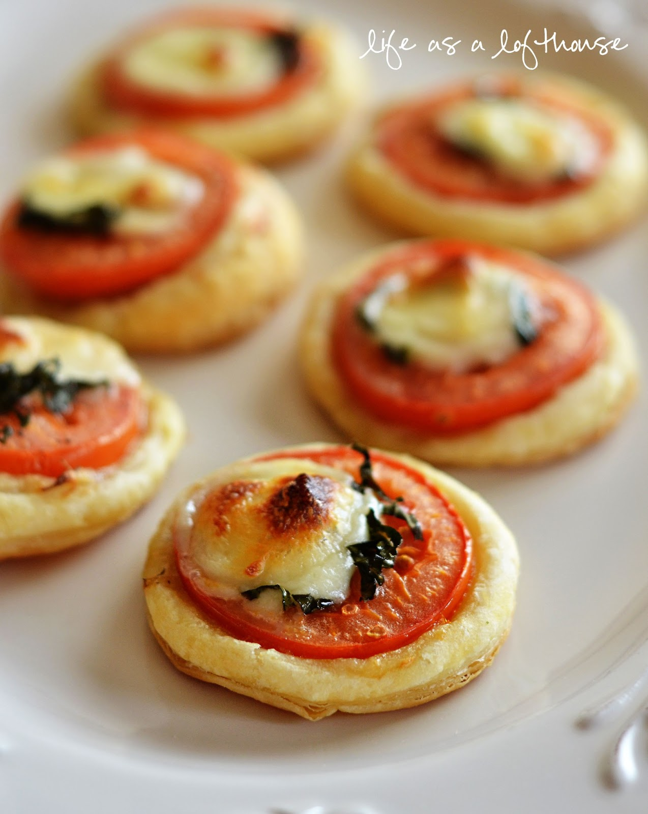 Mini tomato and mozzarella tarts for Canape aperitif