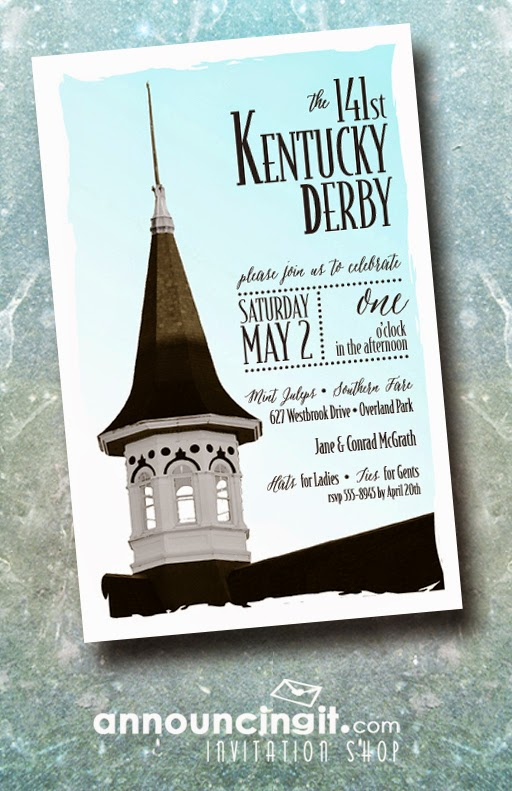 Churchill Spire Kentucky Derby Invitations from Announcingit.com | DerbyMe.com