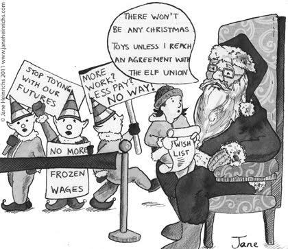 christmas santa on strike