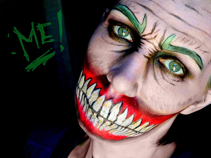 batman joker makeup maquillage