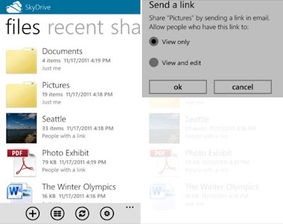SkyDrive App for WP7 and iOS
