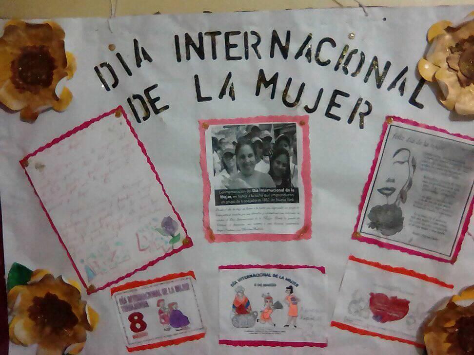 CARTELERA POR EL DIA INTERNACIONAL DE LA MUJER 2018