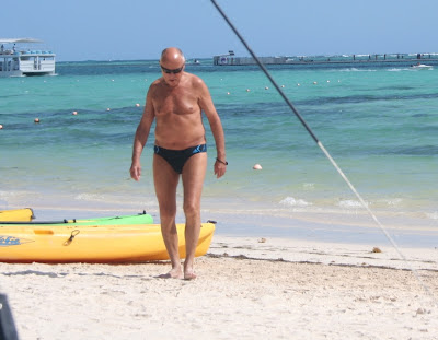 naked on beach - nude grandpa