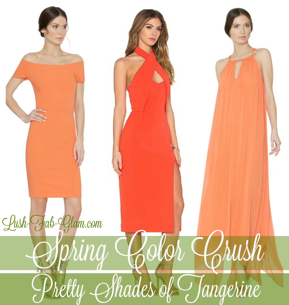Spring's Must-Try Fashion Trend: Pretty Shades of Tangerine.