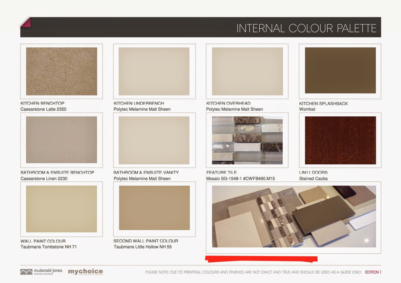 Welcome Home Colour Selection