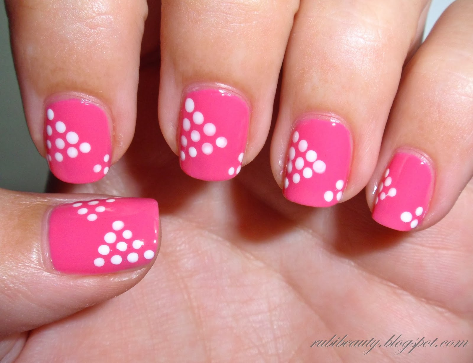 Rubibeauty nail art dise os de u as variados puntos for Decoraciones faciles para unas