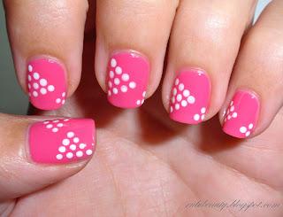 rubibeauty diseños dibujos variados uñas sencillos faciles puntos dots dotting tool DIY pink rosa