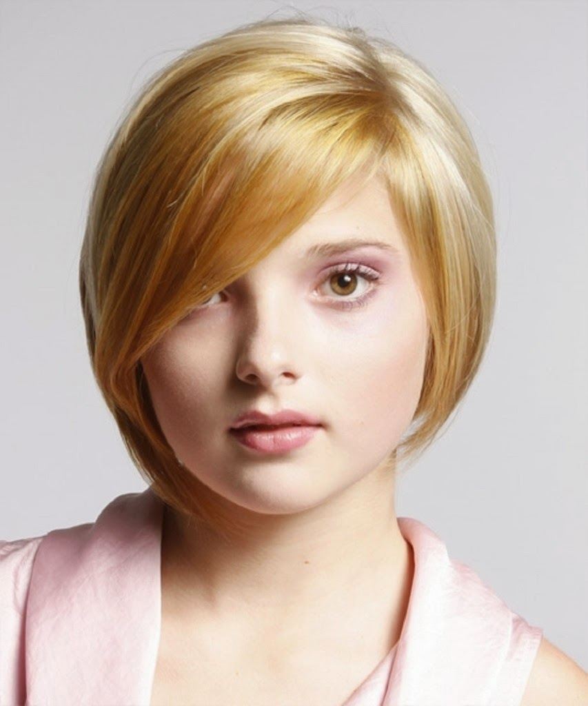 Best Short Hairstyles for Round Face 2014