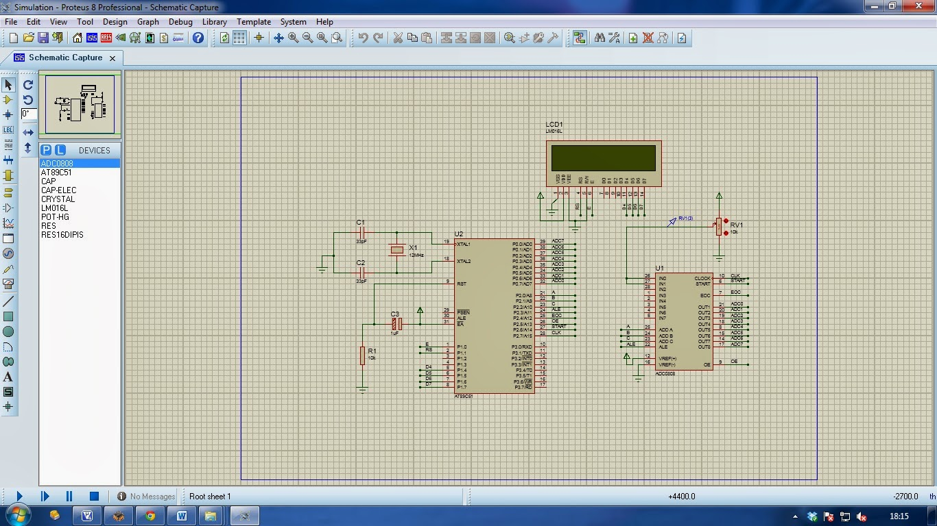 Lcd Interfacing With Pic16f877a Proteus Simulation File Available Working Portable Circuit Application 8 Professional Adc0808 Diagram