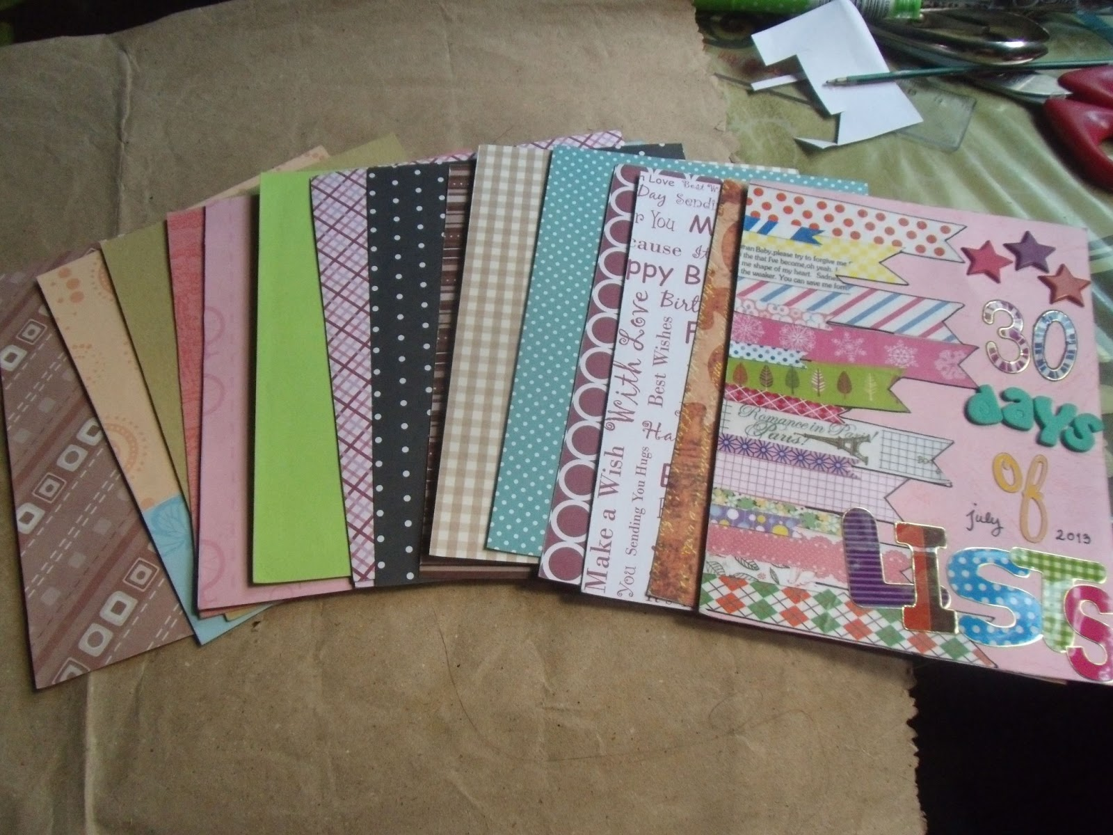 Scrapbook paper store - Scrapbook Paper National Bookstore Papers I Used Front And Back Yeah I Know It S
